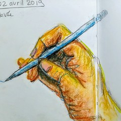 A la main. (Ceha :-)) Tags: drawing sketch dessin croquis esquisse main hand écriture pastel