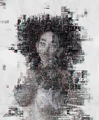 Lokko in Paper (Dolores Lokko) Tags: lokkoinbw paper colors blackandwhite lokko firestorm feelings secondlife sl