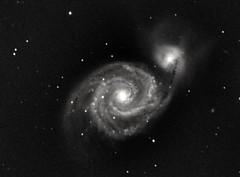 M51 Whirlpool Galaxy (WRW Photography) Tags: m51 whirlpoolgalaxy altairhypercam183mv2mono space altairastro astrophotography celestron celestronedge8hd avx