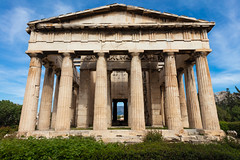 Hephasteon (josullivan.59) Tags: 2019 athens europe greece hephasteon ancient archeological architecture classical columns evening historic historical old ruin temple texture wallpaper travel urban outside outdoor day history light clear
