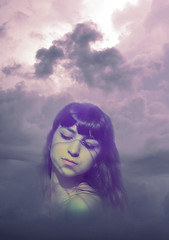 Sans titre-1 (PerceptionPhotoManon) Tags: portrait sky lightshadow creative pink