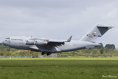 USAF C-17A 04-4133 (birrlad) Tags: shannon snn international airport ireland aircraft aviation airplane airplanes arrival arriving finals landing runway boeing c17 c17a globemaster transport usaf airforce reach rch492 044133 andrews afb prestwick