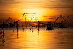 Rise in Lagoon (BeNowMeHere) Tags: ifttt 500px sea benowmehere fishingliftnet landscape riseinlagoon sky sunrise thai thailand thalenoi fishing fishinglift fishingnet lagoon twilight dramatic
