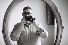 Selfie (bigalid) Tags: film 35mm olympus az300 superzoom ilford xp2 c41 bw may 2019 selfie