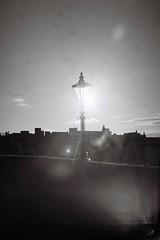 Devorgilla flair (bigalid) Tags: film 35mm olympus az300 superzoom ilford xp2 c41 bw may 2019 devorgilla bridge flare