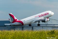 [CDG] Air Arabia Airbus A320-214 _ CN-NMF (thibou1) Tags: airbus airbusa320 a320 a320214 cnnmf thierrybourgain cdg lfpg spotting aircraft airplane nikon d810 tamron sigma airarabia a320200 takeoff