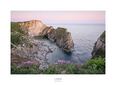 Stair Hole (CaptureLight_71) Tags: stairhole lulworthcove dorset england uk unitedkingdom cathedralcavern seacave rock water sea ocean thrift a7r3 seascape coast clifftops ilce7rm3 geology landscape may 2019 nature outdoor peacefull rugged idyllic sonyzeiss1635mm sky sunset tidal vista waves wideangle beltofvenus earthsshadow
