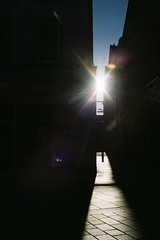 Street flare (bigalid) Tags: film 35mm olympus az300 superzoom may 2019 lomography100cn 100iso dumfries alley