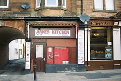 Anne's Kitchen (bigalid) Tags: film 35mm olympus az300 superzoom may 2019 lomography100cn 100iso dumfries shop takeaway