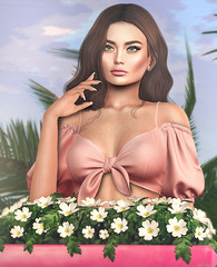 L281 (JoJo Delvalle - Photographer & blogger) Tags: secondlife game virtual doll cute pink lilac flowers 3d lelutka glamaffair taketomi tetra astralia