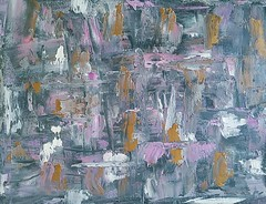 First abstract (Natacha original) (Morgane Batista) Tags: painting abstract oil paint van gogh gold silver pink violet prussian blue palette knife pebeo wet canvas art canada natacha original