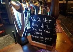 No Wi-Fi (Stuart Axe) Tags: woolpack thewoolpack chelmsford essex uk england gb countytown unitedkingdom greatbritain city countyofessex cityofchelmsford mildmayroad pub publichouse sign wifi guinness