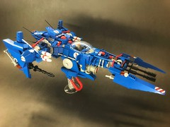 Long-Blade D2 (SuperHardcoreDave) Tags: lego space scifi future weapon fighter starfighter spaceship