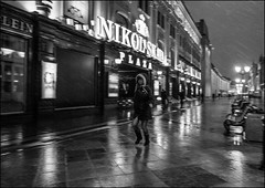 5_DSC4798 (dmitryzhkov) Tags: urban city everyday public place outdoor life human social stranger documentary photojournalism candid street dmitryryzhkov moscow russia streetphotography people man mankind humanity bw blackandwhite monochrome snow snowfall badweather night lowlight
