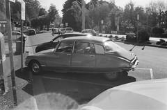 1974 Citroën DS (photo 2) (Matthew Paul Argall) Tags: kodakstar275 fixedfocus 35mmfilm blackandwhite blackandwhitefilm kentmere400 400isofilm car vehicle automobile transportation classiccar oldcar carspotting citroënds
