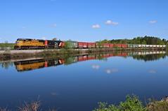 Knowlton, Wisconsin (UW1983) Tags: trains railroads canadiannational cn l588 valleysub sd70m knowlton wisconsin wisconsinriver