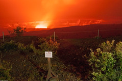 Kilauea Halema'uma'u crater at night (2015) (bfluegie) Tags: bigisland hawaii unitedstates hawaiivolcanoesnationalpark volcano lava crater