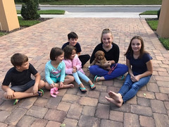 Ella's sweet Winne with her new family!
