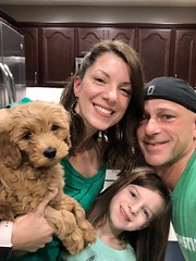Ginger's sweet Nala with her family!