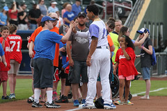 Ches with some special guests :) (Minda Haas Kuhlmann) Tags: sports baseball milb minorleaguebaseball pacificcoastleague omahastormchasers nebraska omaha papillion sarpycounty outdoors cheslorcuthbert fans onfieldpromotions