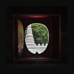 Glimpse (Antoine - Bkk) Tags: thailand wat thong nopphakhun bangkok temple heritage window ancient stupa chedi unique architecture detail square