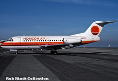 Horizon Air Fokker F-28-1000 N801PH (planepixbyrob) Tags: horizonair horizon fokker f281000 n801ph sfo sanfrancisco retro kodachrome