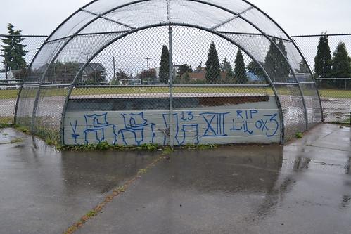 Seattle Gang Graffiti Hillside South Side Locos 13 - a photo