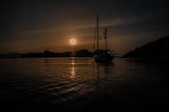 Sunset anchorage.... (Dafydd Penguin) Tags: sunset anchorage anchor sailboat sail boat yacht yachting cruise cruising sailing sun island greece angistri saronic gulf leica m10 21mm super elmar f34