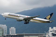 9V-SQN (PlanePixNase) Tags: hkg vhhh hongkong cheplapkok airport aircraft planespotting singapore boeing 777 777200 b772