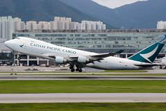 B-LIC (PlanePixNase) Tags: hkg vhhh hongkong cheplapkok airport aircraft planespotting cathay pacific cargo boeing 747 7478f jumbo