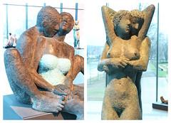 """""""Le baiser"""" et """"Le plaisir"""" Rétrospective Mady Andrien de 1962 à nos jours, Musée de la Boverie, Liège, Belgium (claude lina) Tags: claudelina belgium belgique belgië liège musée museum laboverie oeuvre sculpture madyandrien"""