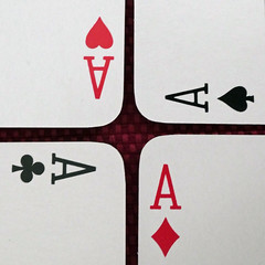 Beginner's luck (Monceau) Tags: four aces lucky beginnersluck cards playingcards ace superstition macromondays