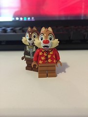 Disney's Chip 'n Dale, Rescue Rangers (Numbuh1Nerd) Tags: lego purist custom minifigures disney afternoon talespin ducktales darkwing duck goof troop chip dale rescue rangers some times crimes go slipping through cracks but these two gumshoes picking up slack theres no case too big small when you need help just call danger