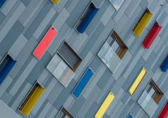 A wall of colours (jefvandenhoute) Tags: belgium belgië boom rvt light shapes geometric colors wall windows