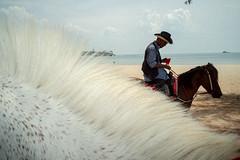 * (Sakulchai Sikitikul) Tags: street snap streetphotography songkhla summicron sony 35mm leica thailand samilabeach beach horse cowboy flash a7s seascape sea sand