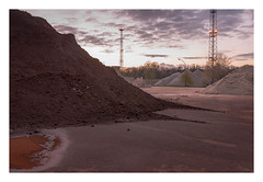 Rusty dawn (Markus Lehr) Tags: mounds floodlight puddle industrial landscape longexposure dawn clouds nopeople peoplelessness contemporaryphotography germany markuslehr