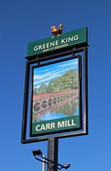 English Pub Sign - The Carr Mill, St Helens (big_jeff_leo) Tags: pub pubsign publichouse sign lancashire painted streetart street dam bridge british england
