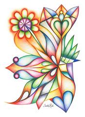 Encuentro (Sandra Rede) Tags: abstract art abstracto abstractart arte abstraction arteabstracto drawing design doodle dibujo designer draw coloredpencil colorful contemporary coloredpencils sandrarede saatchiart