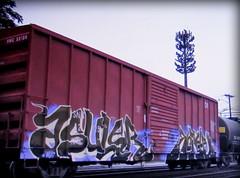 asuler - korue (timetomakethepasta) Tags: asuler korue freight train graffiti art snc boxcar esc