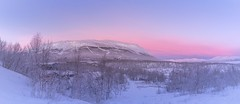 Morning sunrise in abisko. A wonderful sunrise with the mountain aurora station mountain in the background. Stitched five pictures together for this one. #abisko #aurora #sweden #sunrise #snowylandscape #mountain #snowscene (jeremy.cawley) Tags: abisko aurora sweden sunrise snowylandscape mountain snowscene
