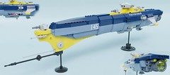 Nastoychivyy, J2 project destroyer (Sunder_59) Tags: lego moc render blender3d mecabricks scifi space spaceship spacecraft starship capitalship military vehicle micro