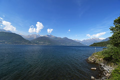 Lake Como - view from Piona Abbey (pontla) Tags: como lake piona alps italy mountains lakecomo