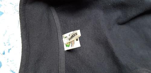 10mm wit lint met zwart bedrukt