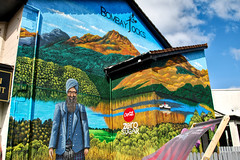 Bombay Jocks (goatsgreetings) Tags: balloch loch lomond glasgow scotland mural color colour colourful colorful indian restaurant takeaway paint