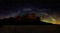Milky Way over Los Mallos de Riglos _5387-5415 b (antarc foto) Tags: milky way via làctia los mallos de riglos osca aragó
