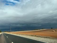 Wongyarra, South Australia (Marian Pollock) Tags: australia road southaustralia abstract house deserted fields clouds lines storm
