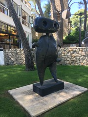 A Miro sculpture in the garden of Fondation Maeght