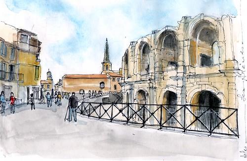 Arles: les arènes