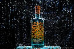 Gin Shower (Simon Greig Photo) Tags: strobist alcohol bottle gin silentpool splash studio water wet