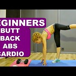 Beginner program: workout 4: cardio, butt, back and abs exercises thumbnail